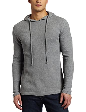 Modern Culture Men's Hooded Thermal Tee, Ash, X-Large/Regular