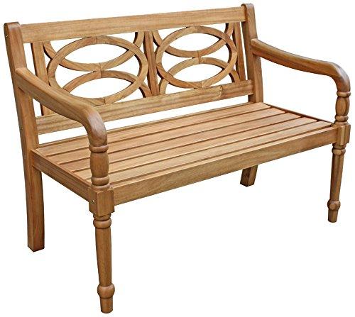 Dehner Gartenbank Brighton 2-Sitzer, ca. 115 x 60 x 89.5 cm, FSC Akazienholz, natur online bestellen