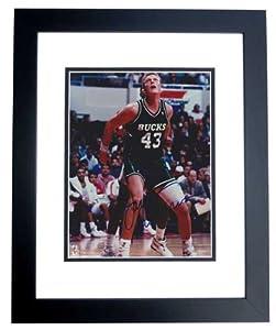 Jack Sikma Autographed Hand Signed Milwaukee Bucks 8x10 Photo - BLACK CUSTOM FRAME by Real Deal Memorabilia