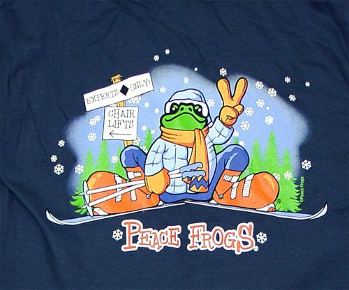 Peace Frogs Adult Ski Short Sleeve T-Shirt front-941715