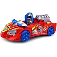Rescue Warrior Chariot Battery Operated Bump And Go Toy Car W/ Flashing Lights, Sounds (Colors May Vary)