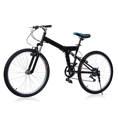 Best Review Of Wakrays 26 Folding 6 Speed Mountain Bike Sport Cycling Disc Brakes Bicycle