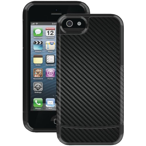 Great Sale HA1004-9025 IPHONE 5 VANDELAY II CASE WITH HOLSTER (CARBON FIBER OUTER INLAY, BLACK INNER LINER, MOLDED SHELL)