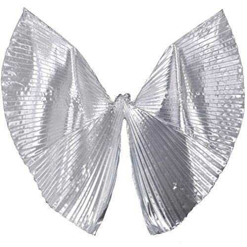 Dreamspell Fashion Opening Isis Wings Belly Dance Costume/props Silver