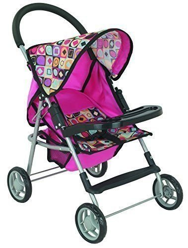 My First Doll Stroller Super Cute with front table and Storage Basket