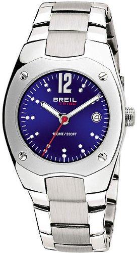 Breil Women's Watch Analogue Quartz TW0396 Silver Stainless Steel Strap Blue Dial
