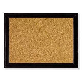 Quartet Cork Bulletin Board, 11 x 17 Inches, Black Frame (79279)