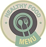 Menu Healthy Food Restaurant Label Car Bumper Sticker Decal 5