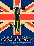 SPORT ADVERT MOTOR RACING GRAND PRIX SILVERSTONE ENGLAND POSTER PRINT BB12700A