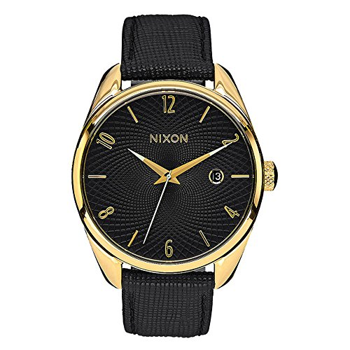 Nixon-Unisex-Armbanduhr-Bullet-Leather-Analog-Quarz-Leder-A473513-00