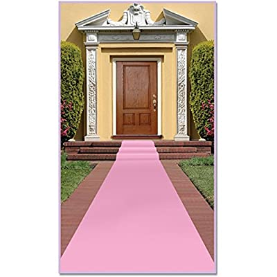 Pink Carpet Runner (Poly W/double Stick Tape) Party Accessory (1 Count) (1/pkg)
