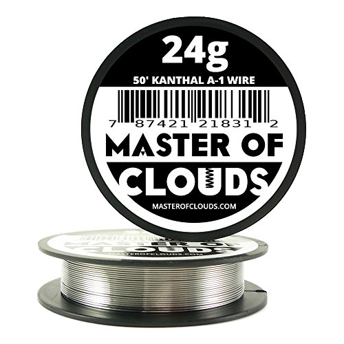 50ft. Kanthal A1 Resistance Wire 24 AWG Gauge 50' Lengths (Master Gauge compare prices)