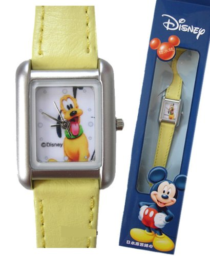 Yellow Band Pluto Leather Watch - Pluto Watch