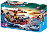 Toy - PLAYMOBIL 5137 - Piraten-Ruderboot mit Hammerhai