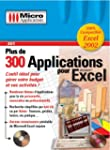 Plus de 300 Applications pour Excel