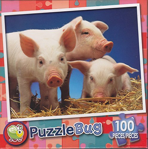 Puzzlebug 100 Piece Puzzle ~ Three Little Pigs