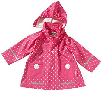 Playshoes Mädchen Regenmantel 408566 Playshoes Kinder Regenmantel, Regenjacke mit Punkten, Gr. 92, Pink (pink)