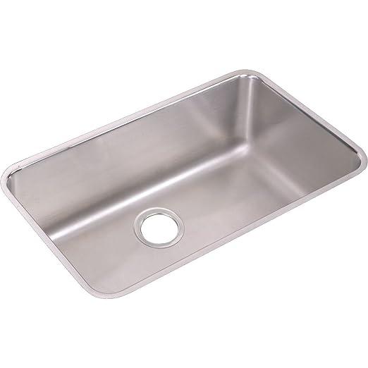 Elkay ELUH281610 Gourmet Lustertone Undermount Sink, Stainless Steel