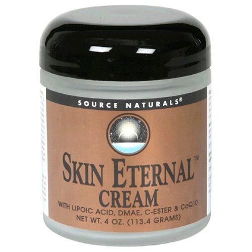 Source Naturals Skin Eternal Cream with Lipoic Acid, DMAE, C-Ester and CoQ10, 4 Ounce