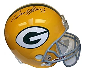 Bart Starr Autographed Hand Signed Green Bay Packers Full-Size Helmet - UDA COA by Hall of Fame Memorabilia