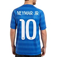 NEYMAR JR #10 NEW WORLD CUP 2014 -15 BRAZIL AWAY BLUE SOCCER JERSEY