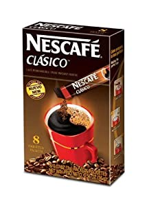 Nescafe Clasico Instant Coffee, 8-Count Sticks (Pack of 12) by Nescafe