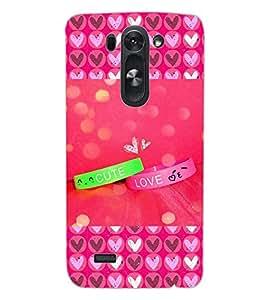 ColourCraft Love Bands Design Back Case Cover for LG D722 K