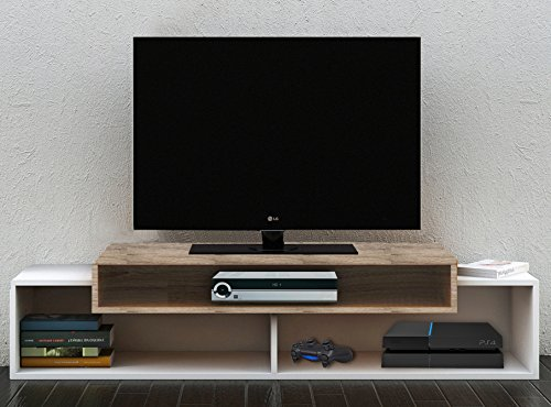 VCM-906100-TV-Lowboard-Monaco-Rack-Tisch-Holz-Fernsehschrank-60-x-130-x-40-cm-wei-sonoma-eiche