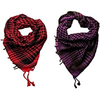Anuze Fashions New Styles Scarves Arab Shemagh Arafat Scarf For Men's Pack Of 2