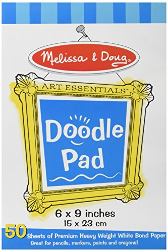 Melissa & Doug Doodle Pad (6 x 9 inches) With 50 Sheets of White Bond Paper (Kids Coloring Pad compare prices)