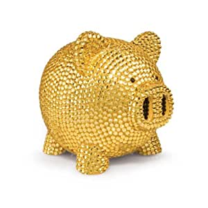 Trumpette rhinestone piggy bank gold discontinued by manufacturer toy banks - Rhinestone piggy bank ...
