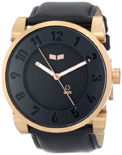 Vestal Unisex Dop012 Doppler Rose Gold Black Watch