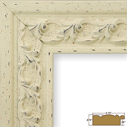 Craig Frames 527204 11 by 14-Inch Picture Frame, Ornate Composite Finish, Solid Wood Core, 2.15-Inch Wide, Antique White (Antique Picture Frames compare prices)