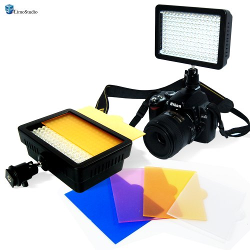 LimoStudio 160 LED Video Light Lamp Panel Dimmable for DSLR Camera DV Camcorder, AGG1318 image