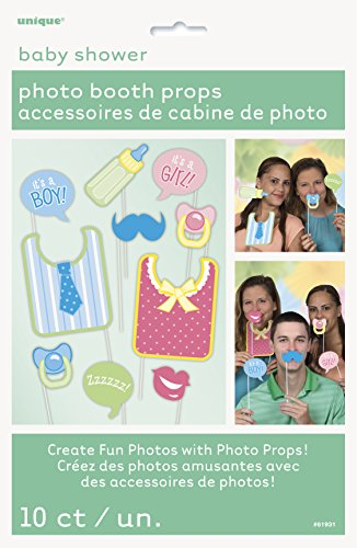 Baby Shower Photo Booth Props, 10pc (Photo Booth Props Baby Shower compare prices)