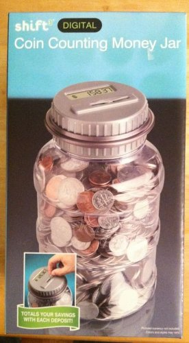 Emerson digital coin counting money jar automatic piggy bank new ebay - Coin bank that counts money ...