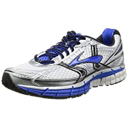 Brooks Mens Adrenaline GTS 14 Running Shoe White/Electric/Silver US 11