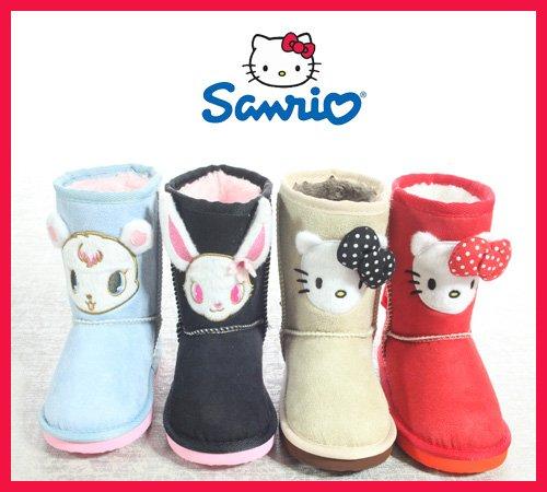 [Disney] Sheepskin boots SA-8151 Hello Kitty jewel pet (16 cm, Beige)