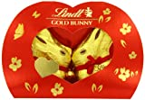 Lindt Kissing Gold Bunny 100 g (Pack of 2, Total 16 Chocolates)
