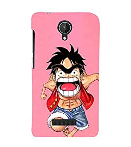 EPICCASE Angry boy Mobile Back Case Cover For Micromax Canvas Spark Q380 (Designer Case)