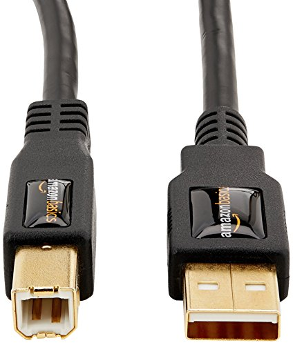 AmazonBasics USB 2.0 Cable - A-Male to B-Male - 6 Feet (1.8 Meters)
