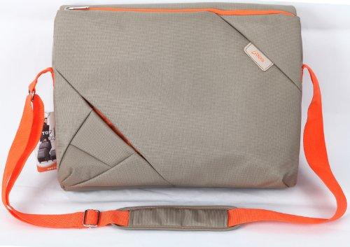 Bipra 15.6 Cola Laptop Messenger Bag siva/oranžna Design primerna za 15.6 Cola ustreza večini Netbooks naprave, Prenosni računalniki, Tablete, IPad