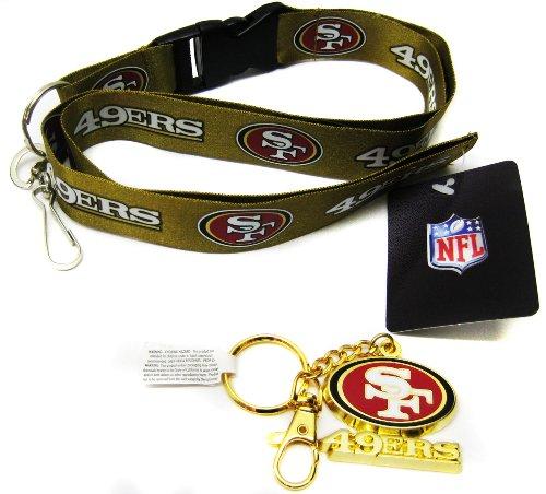 San Francisco 49ers Niners Keychain Lanyard Pack