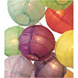51XCcVEJtlL. SL160  3.5 D Multicolor Paper Lantern String Lights (set of 10)