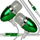 Direct-2-Your-Door - Sony Xperia Z1 Compact Premium Quality in Ear Buds Stereo Hands Free Headphones Headset with Built in Microphone Mic & On-Off Button - Green