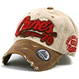 ililily Distressed Vintage Cotton embroidered Baseball Cap Snapback Trucker Hat