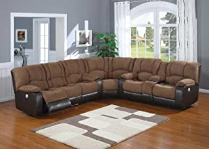 3pc Electric Reclining Sectional Sofa Set #AC-JAGGER