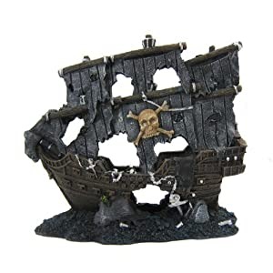 Alfie lifestyle aquarium decor aquascaping for Fish tank pirate ship