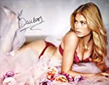 Doutzen Kroes Autographed 11x14 Victorias Secret Pink Photo