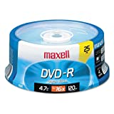 Maxell® - DVD-R Discs, 4.7GB, 16x, Spindle, Gold, 25/Pack - Sold As 1 Pack - Share and preserve files and memorable moments.
